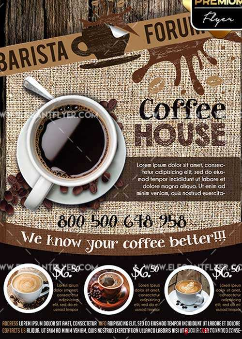 Coffee V3 Flyer PSD Template + Facebook Cover