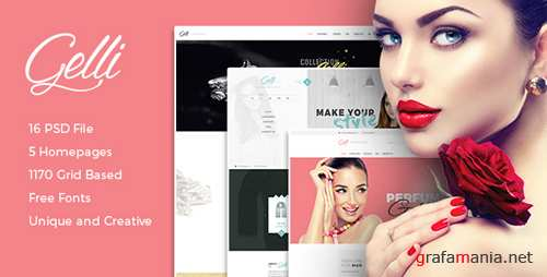 Gelli - PSD Template For Jewelry / Perfume / Accessories Online Shop 15560906