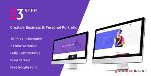 3 Step- Creative Business & Personal PSD Template 15793550