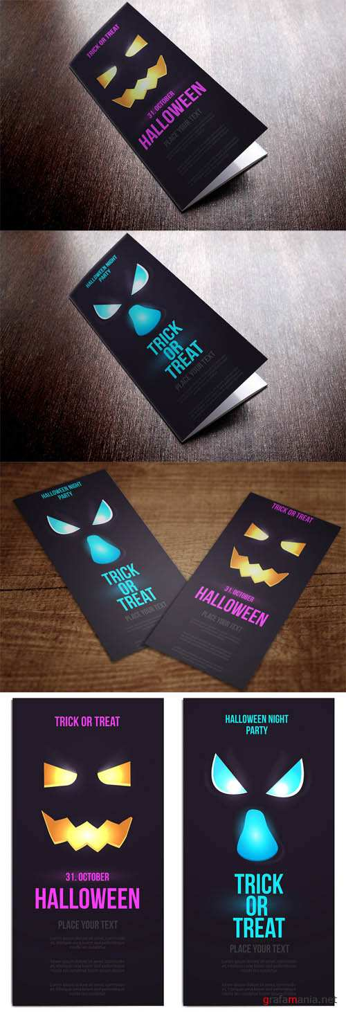Halloween Flat Designed Vertical Banners