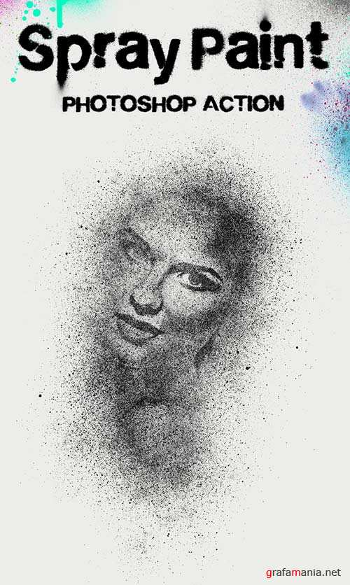GraphicRiver Spray Paint Photoshop Action