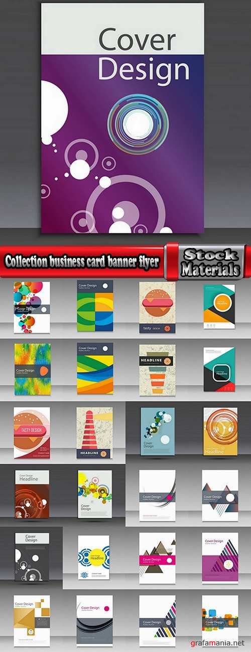 Collection gift certificate business card banner flyer calling card poster 7-25 EPS