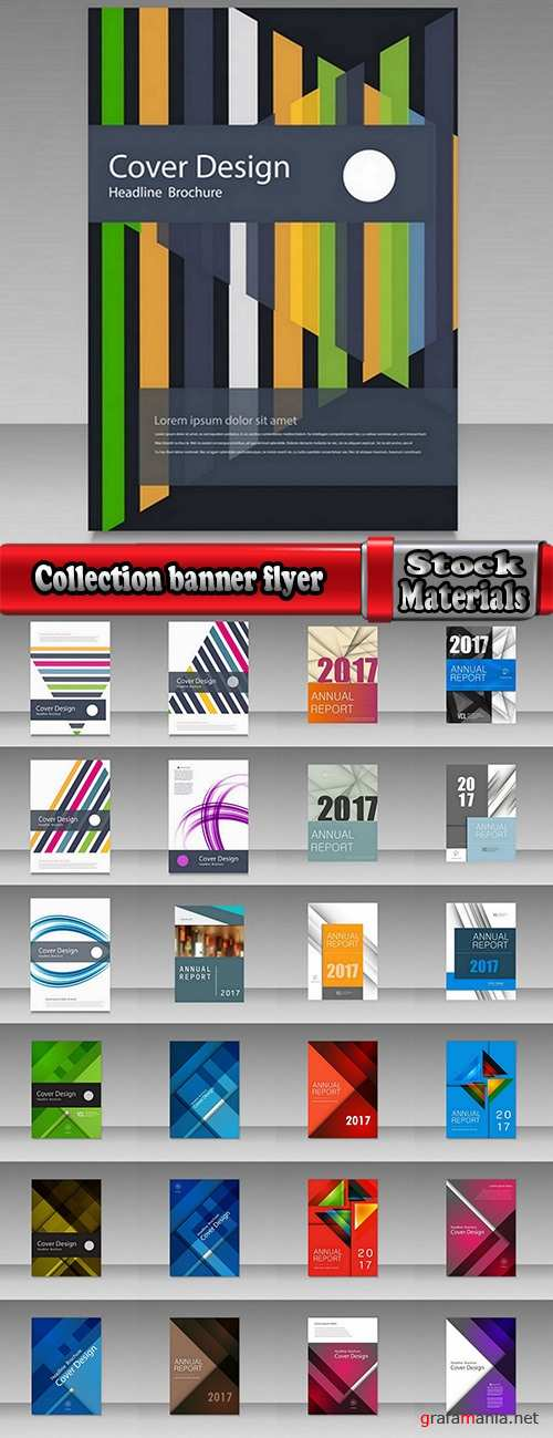 Collection gift certificate business card banner flyer calling card poster 6-25 EPS