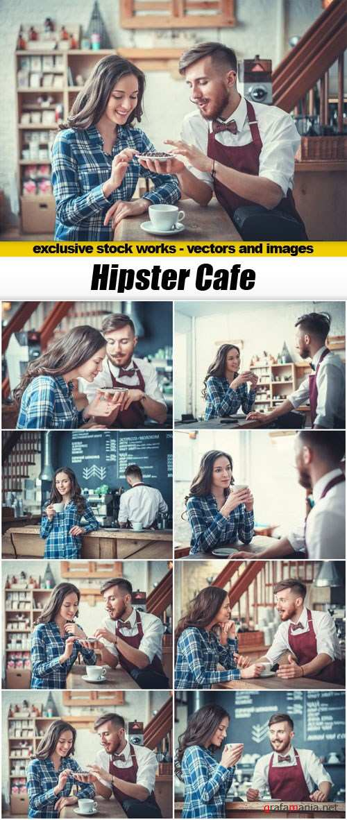 Hipster Cafe - 8xUHQ JPEG