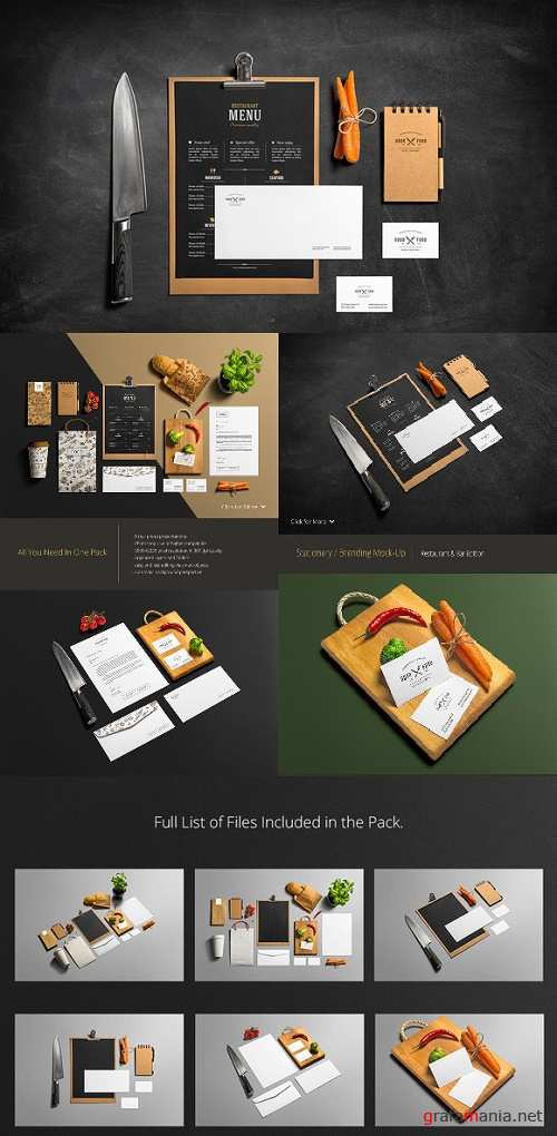 Restaurant & Bar Stationery Branding Mockup - 231283