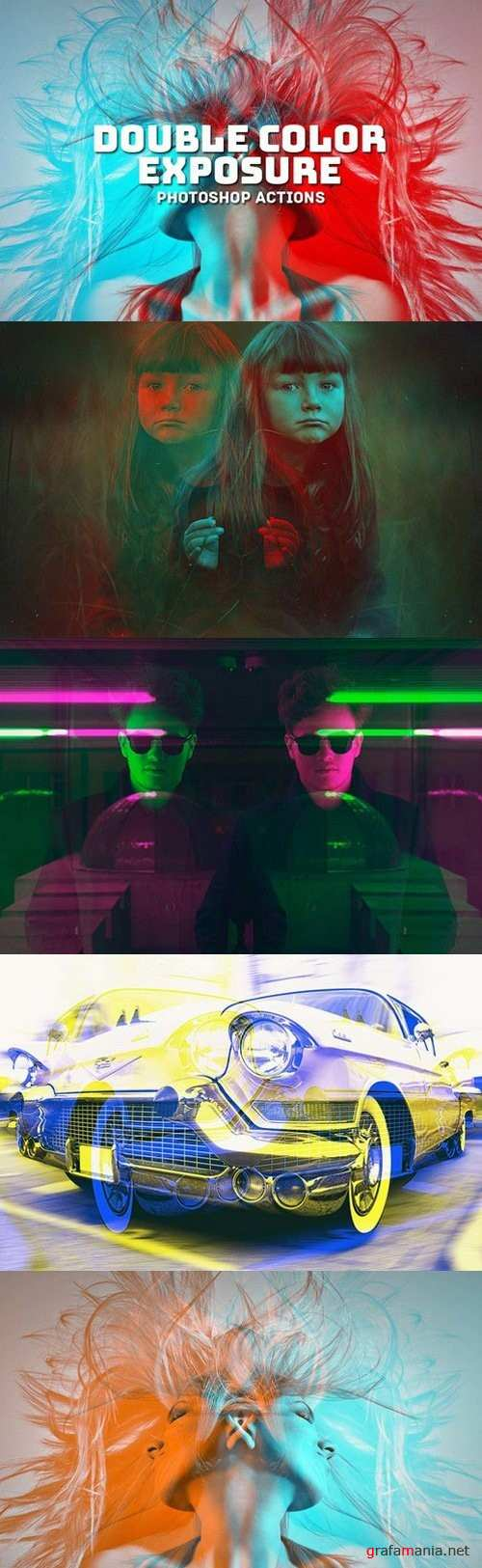 Double Color Exposure Actions - 973687