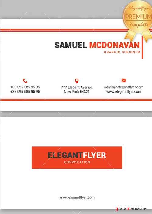 Minimal Corporate V2 Business Card Templates PSD