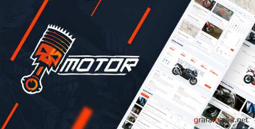 Motor – Vehicles, Parts & Accessories Store - PSD Template 15369140