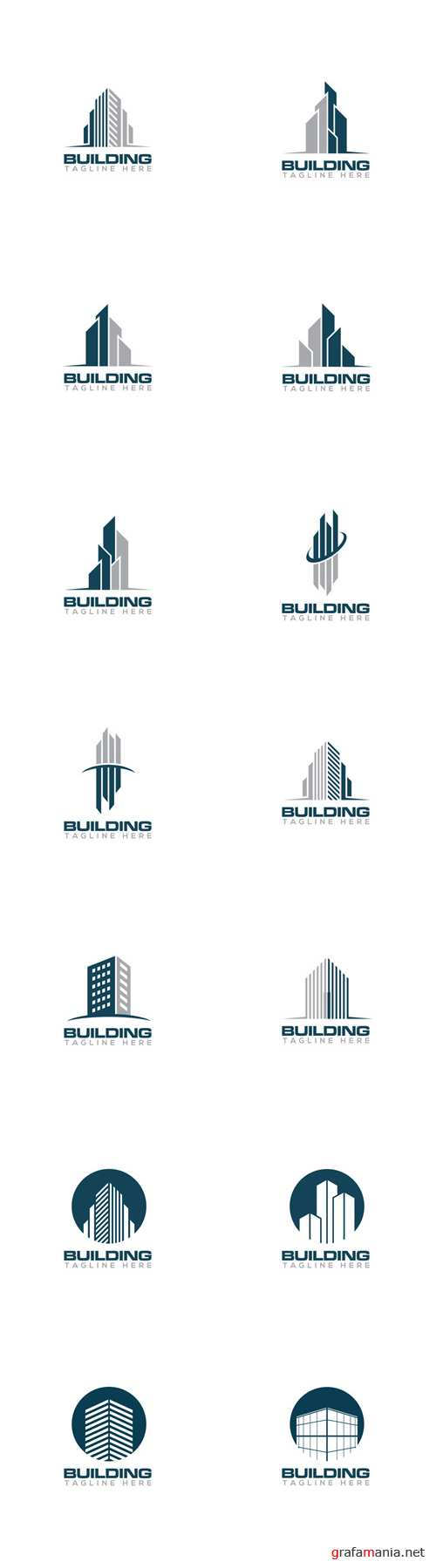 Vector Building Creative Concept Logo Design