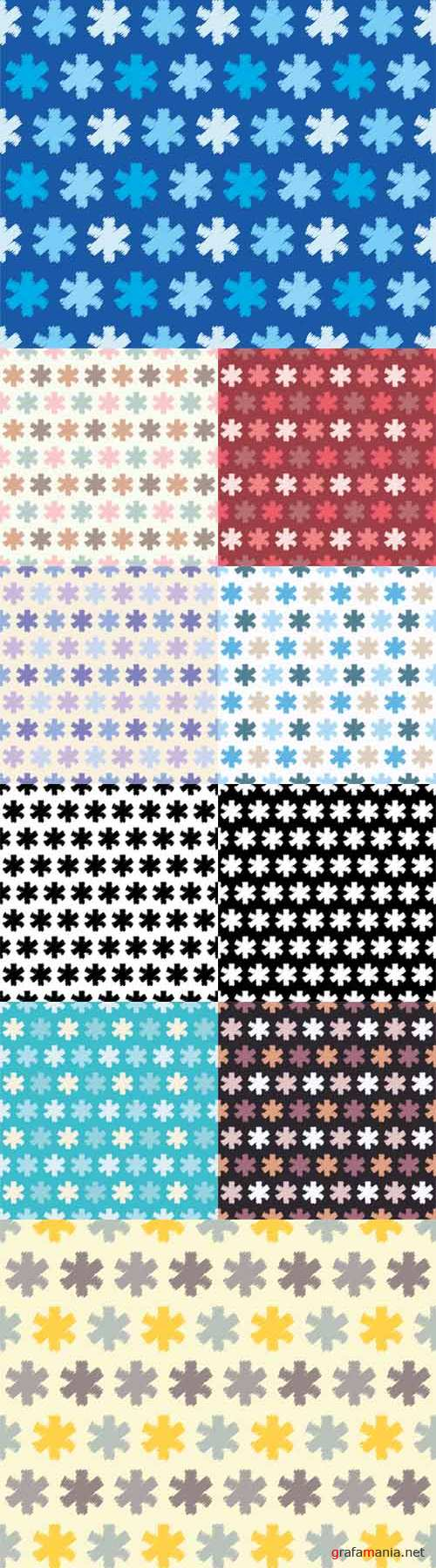 Vector Seamless background with snowflakes. Print. Repeating background