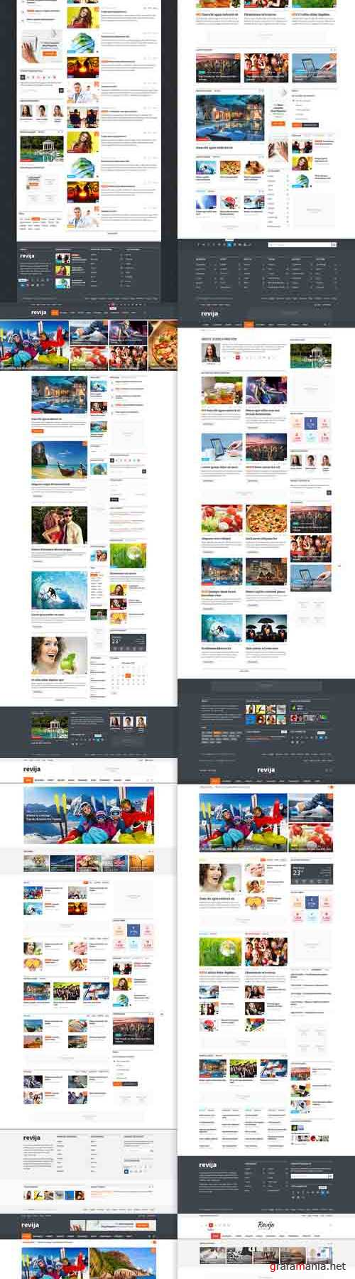 Revija - Blog/Magazine PSD Template