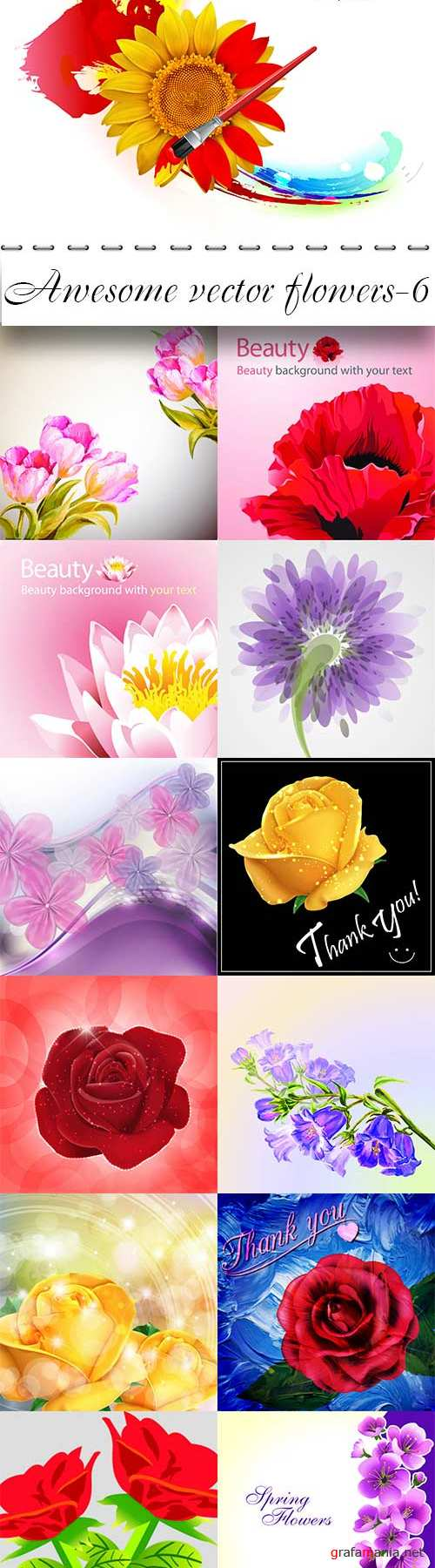 Awesome vector flowers-6