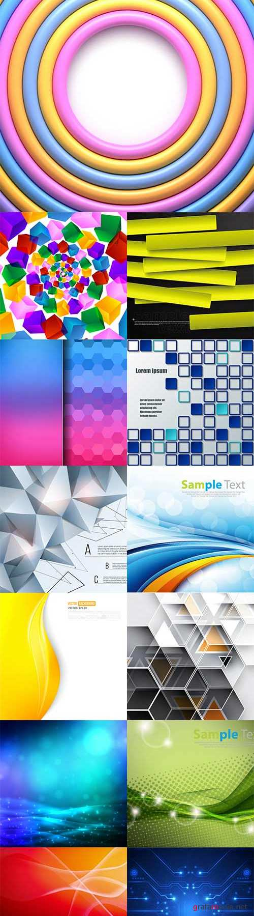 Bright colorful abstract backgrounds vector -52