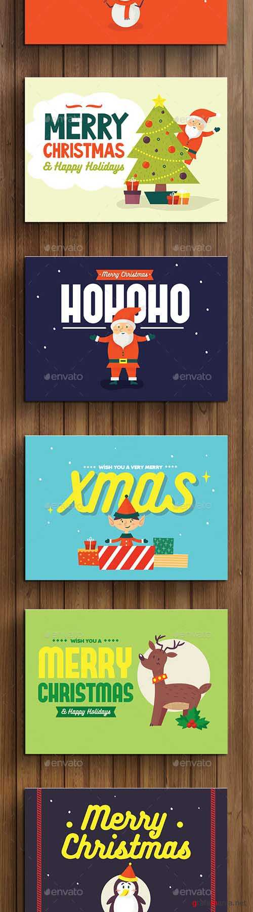 Set of Christmas Card / Background 13541524