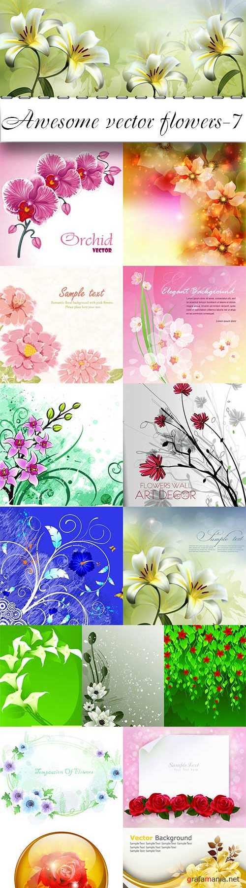 Awesome vector flowers-7