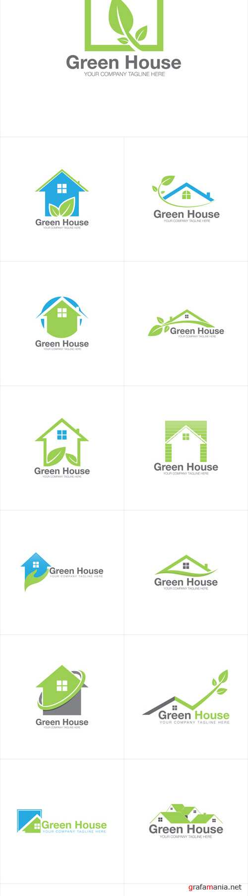 Vector House Home Green Nature Logo Icons