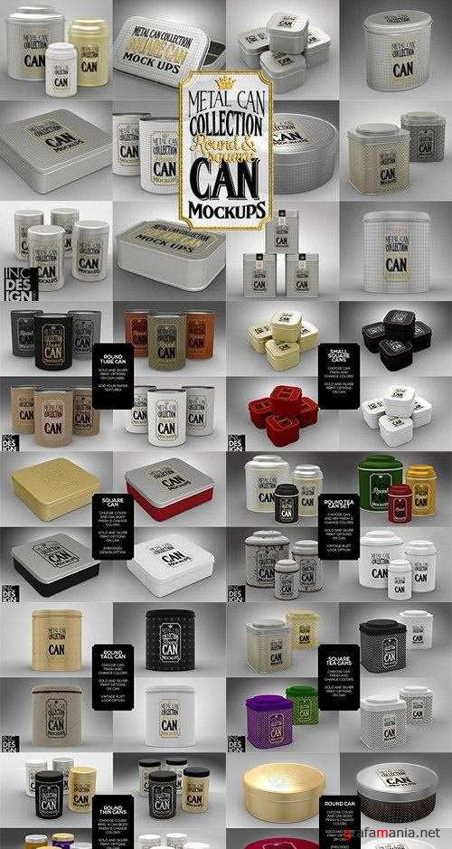 Metal Can Mock Up Collection - 968596