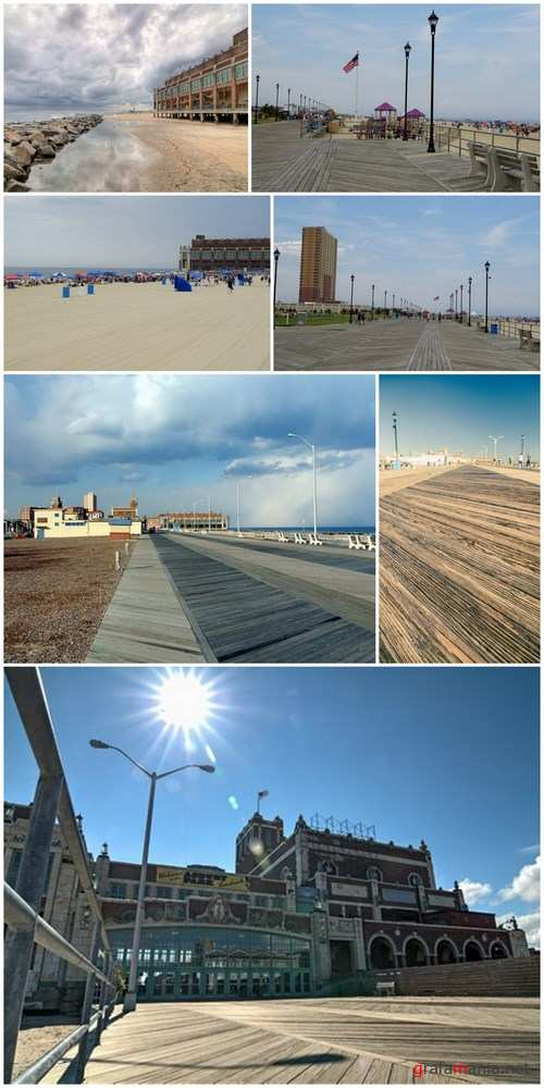 Boardwalk at the beach at Asbury Park in New Jersey - 7xUHQ JPEG