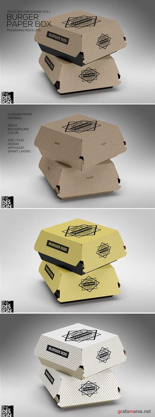 Burger Box Packaging Mock Up - 986631