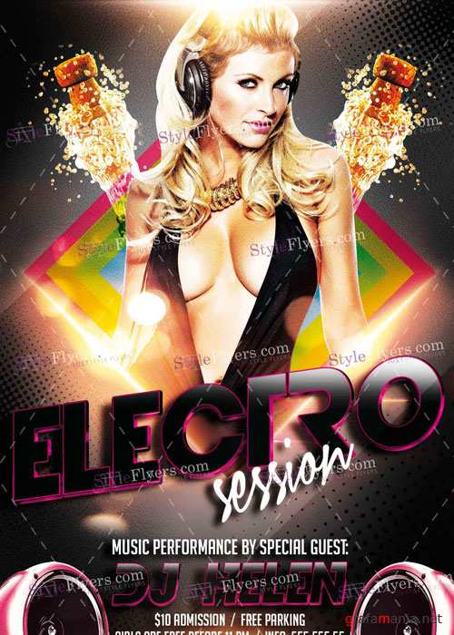 Electro Session PSD V21 Flyer Template