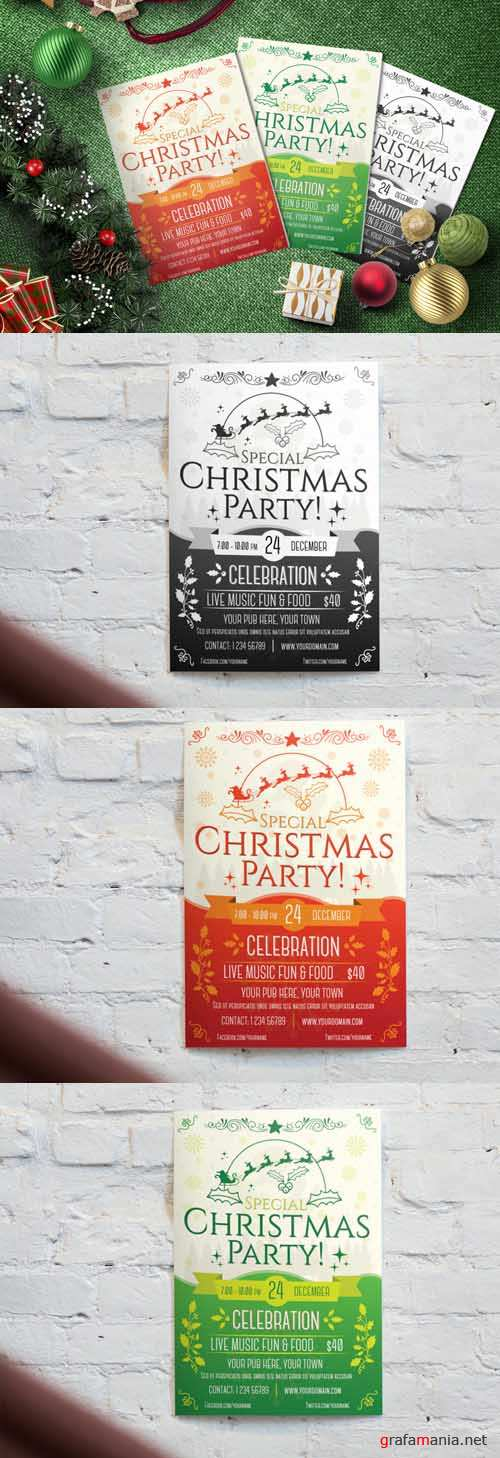 Flyer Template - Christmas Party 1