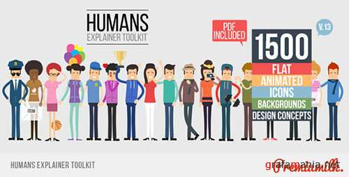 Humans Explainer Toolkit - Project for After Effects (Videohive)