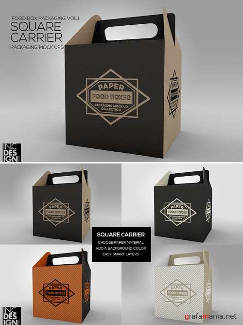 Square Carrier Packaging MockUp - 986673