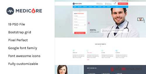 Medicare - Medical & Health PSD Template 11510854