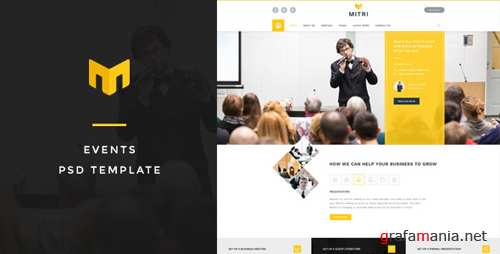 Mitri Events - Events & Conference PSD Template 15121414