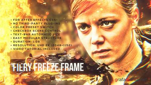 Fiery Freeze Frame - Project for After Effects (Videohive)