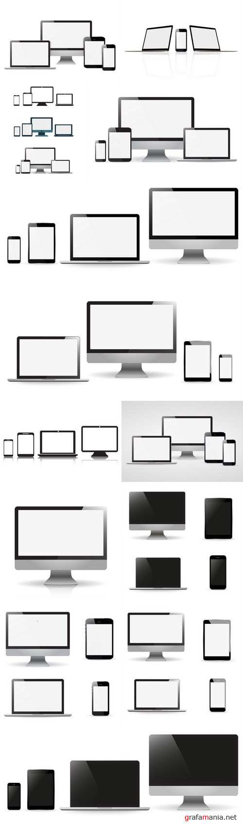 Smartphones, computers and gadgets - 13xEPS