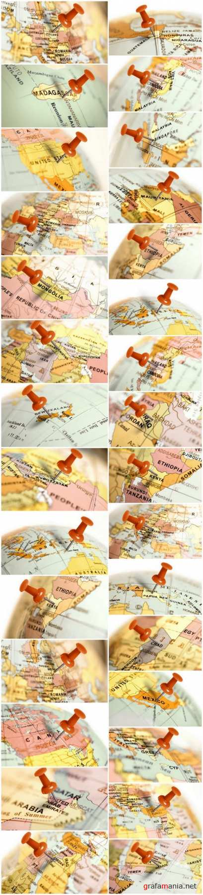 Location & red pin on the map - 30xUHQ JPEG Photo Stock
