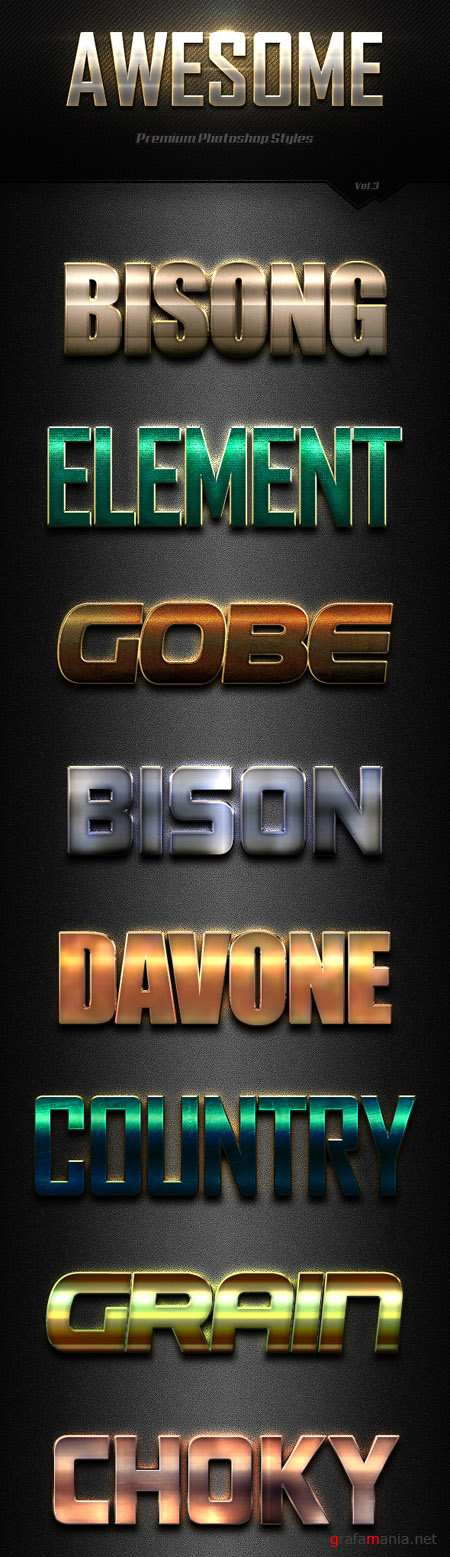 GraphicRiver - Awesome Photoshop Text Effects Vol.3 18255404