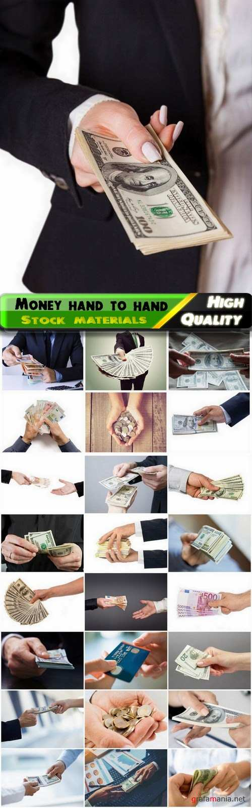 Business concept with money hand to hand - 25 HQ Jpg