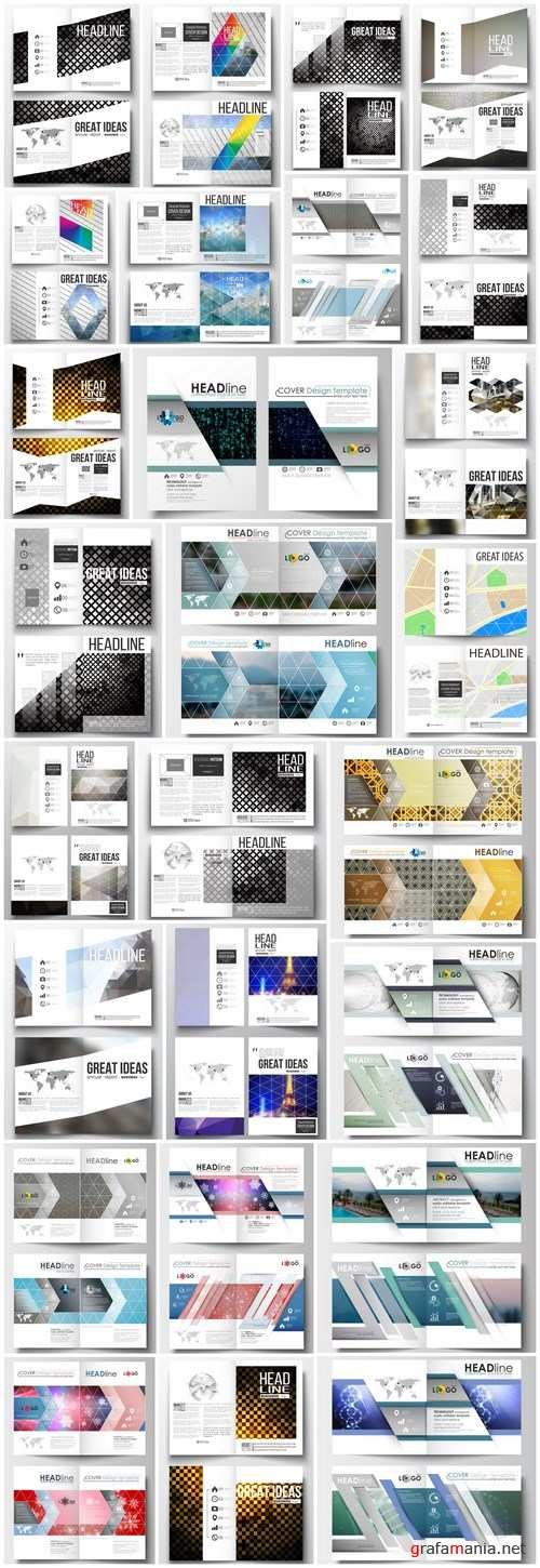 Cover design template, magazine, flyer, booklet or annual report - 26xEPS Vector Stock
