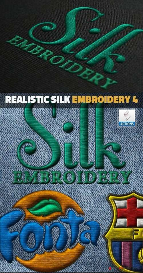 Silk Embroidery Effect Photoshop Action - 18532364