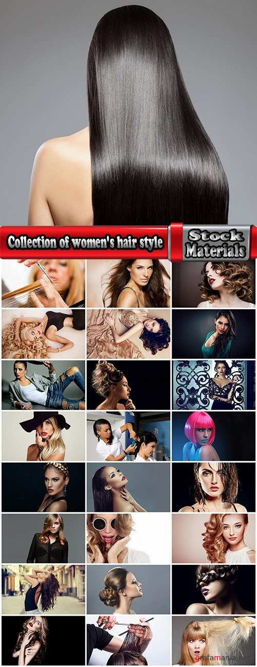 Collection of women's hair style curly hair make-colored hair 25 HQ Jpeg