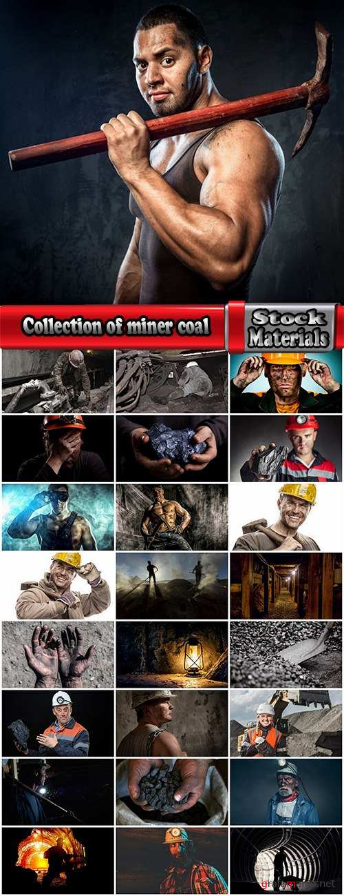 Collection of miner coal mining working mine 25 HQ Jpeg
