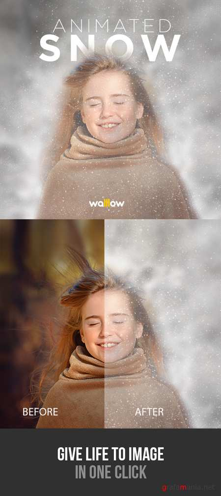 GraphicRiver - Animated Snow Photoshop Action 18981598