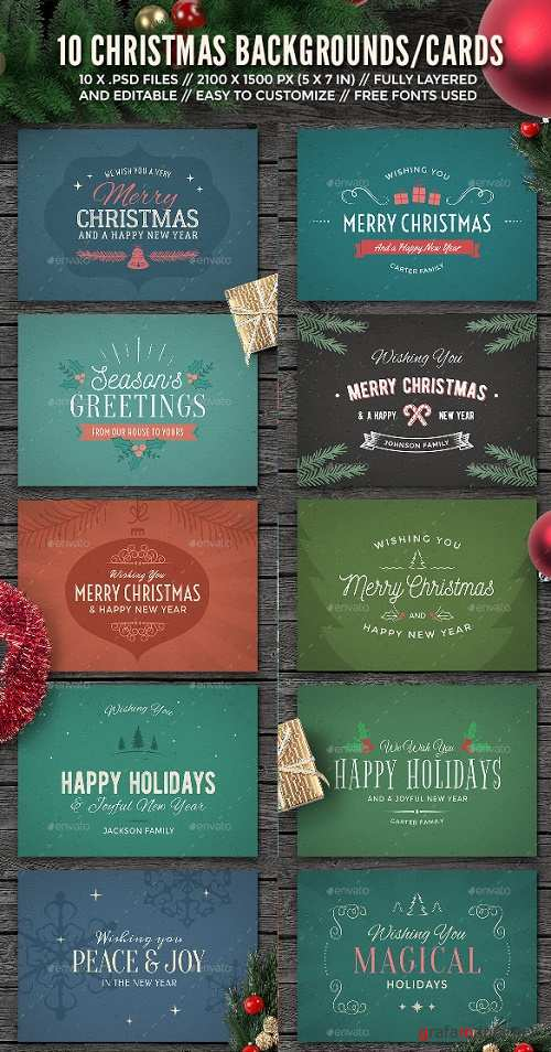 10 Christmas Backgrounds/Cards - 13905872