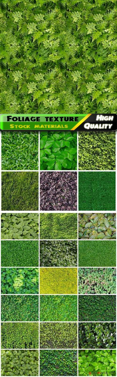 Green seamless foliage and grass eco nature texture - 25 HQ Jpg