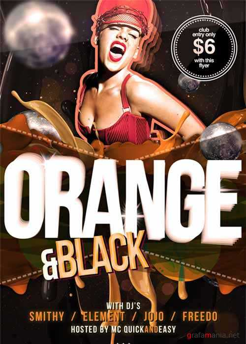 Black & Orange V1 Flyer Template