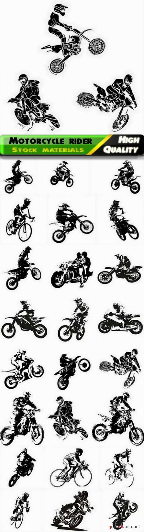 Rider participates motocross championship on motorcycle 25 Eps