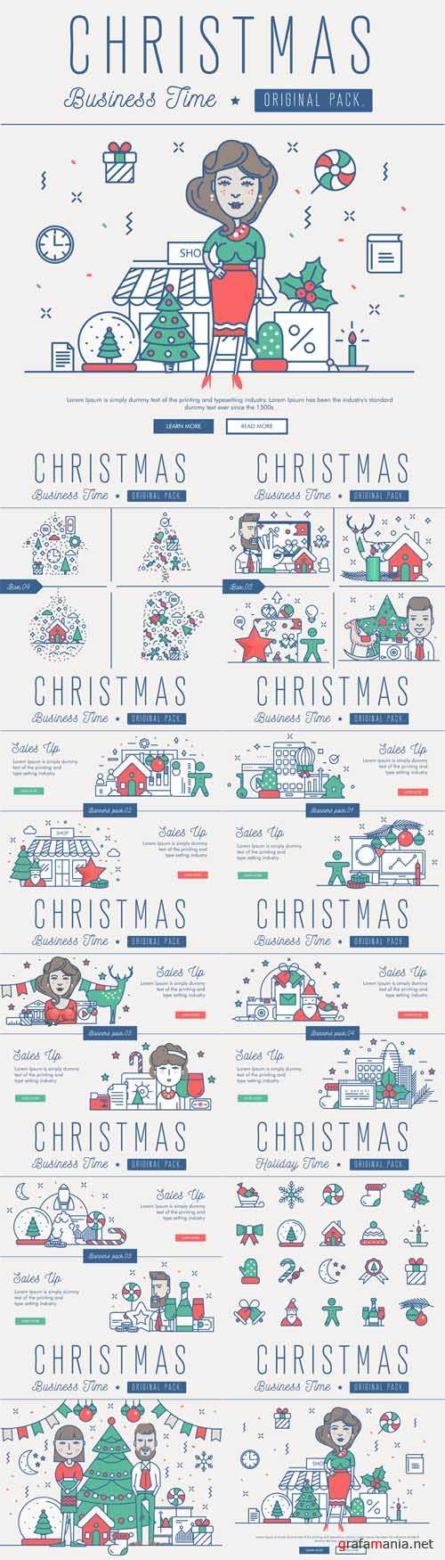 Vector Modern Excellent Happy Christmas Business Time 2