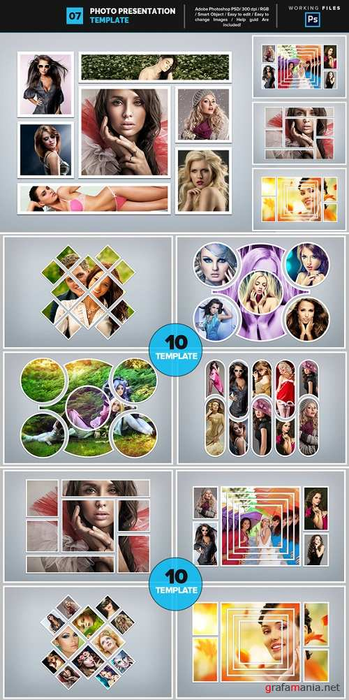 Photo Collage Template 07 - 752540