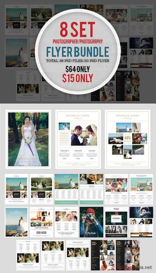 8 Set Photography Flyer Bundle - 644853