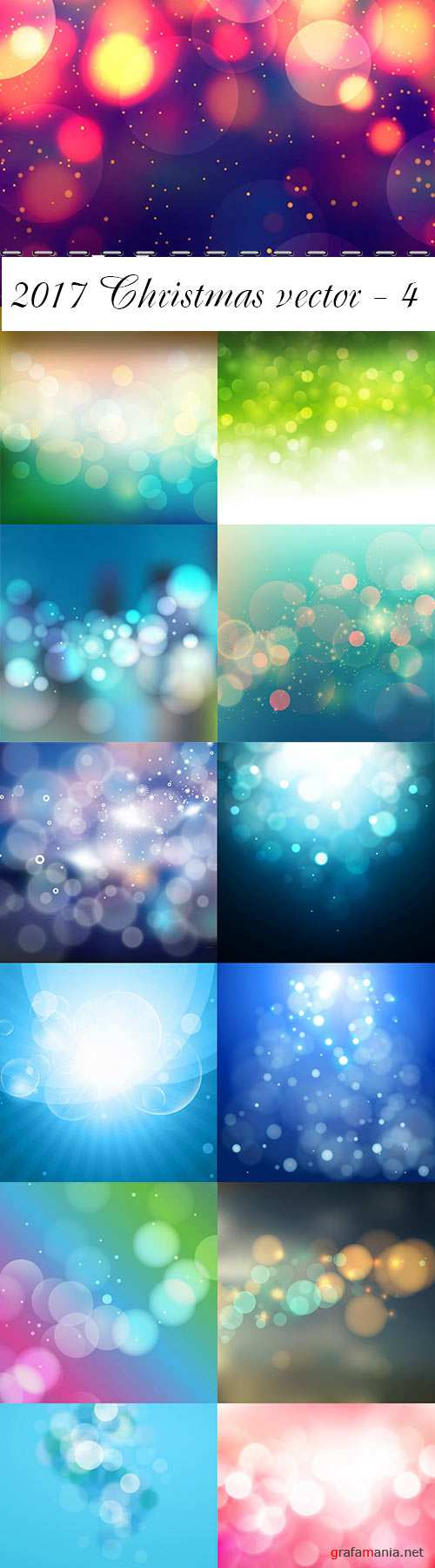 Vector bokeh colorful backgrounds - 3