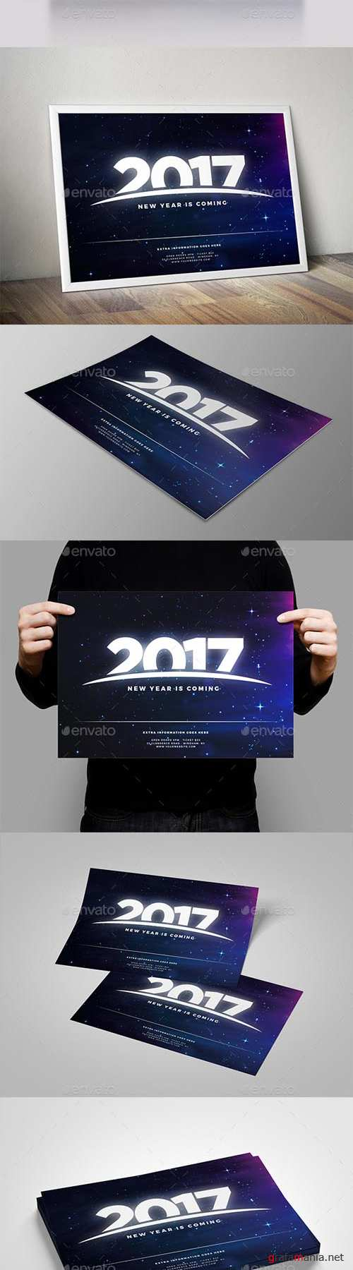 New Year Coming 2017 Flyer 18274189
