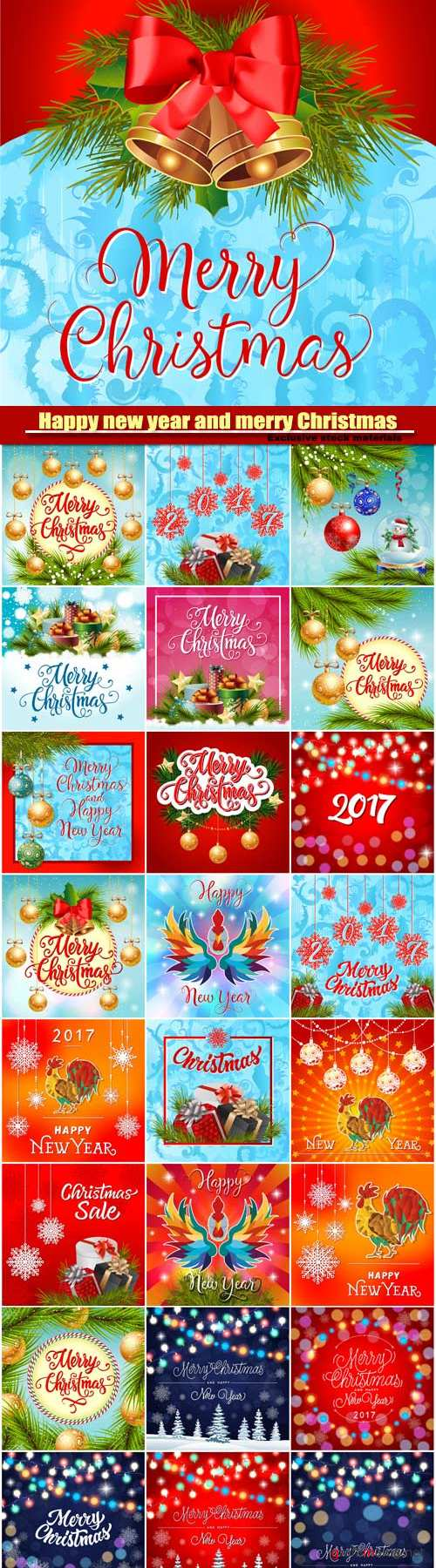 Merry Christmas and Happy New Year, decorations,Christmas balls, present boxes with bow, stars