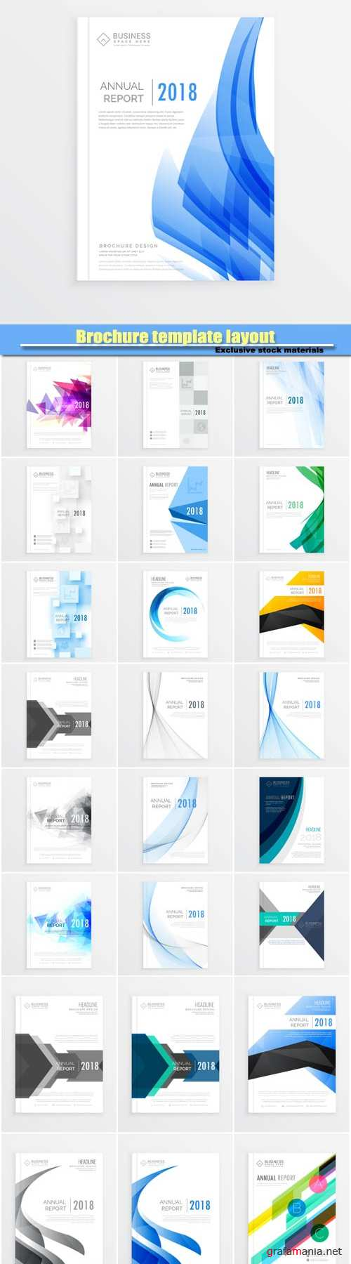 Brochure template layout, annual report cover design, magazine flyer design